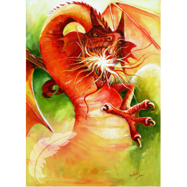 Fire Dragon Mythical Art Helen O'Sullivan Milltown Kerry Ireland