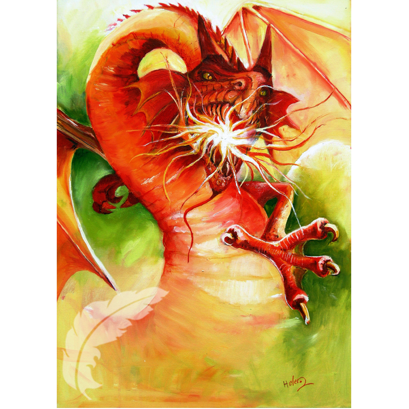 Fire Dragon - Mythical Art Helen O'Sullivan Milltown Kerry Ireland